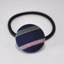 髪ゴム 紺/ピンク・緑・黄