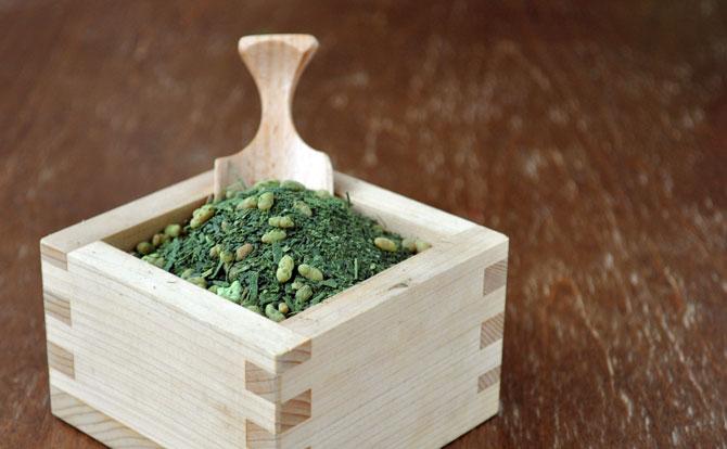 抹茶入り玄米茶の茶葉